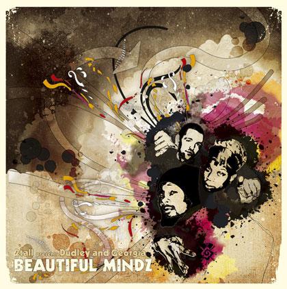 DJ 2Tall - 'Beautiful Mindz' LP Cover