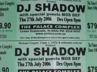 DJ Shadow @ The Palace – July 25/26