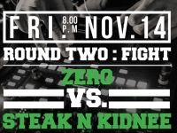 Battle 2: 2014 Wax Wars – DJ Zero v Steak n Kidnee